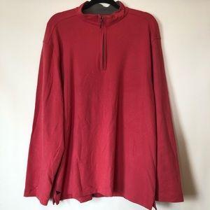 UNTUCKit Quarter Zip Pullover Jacket